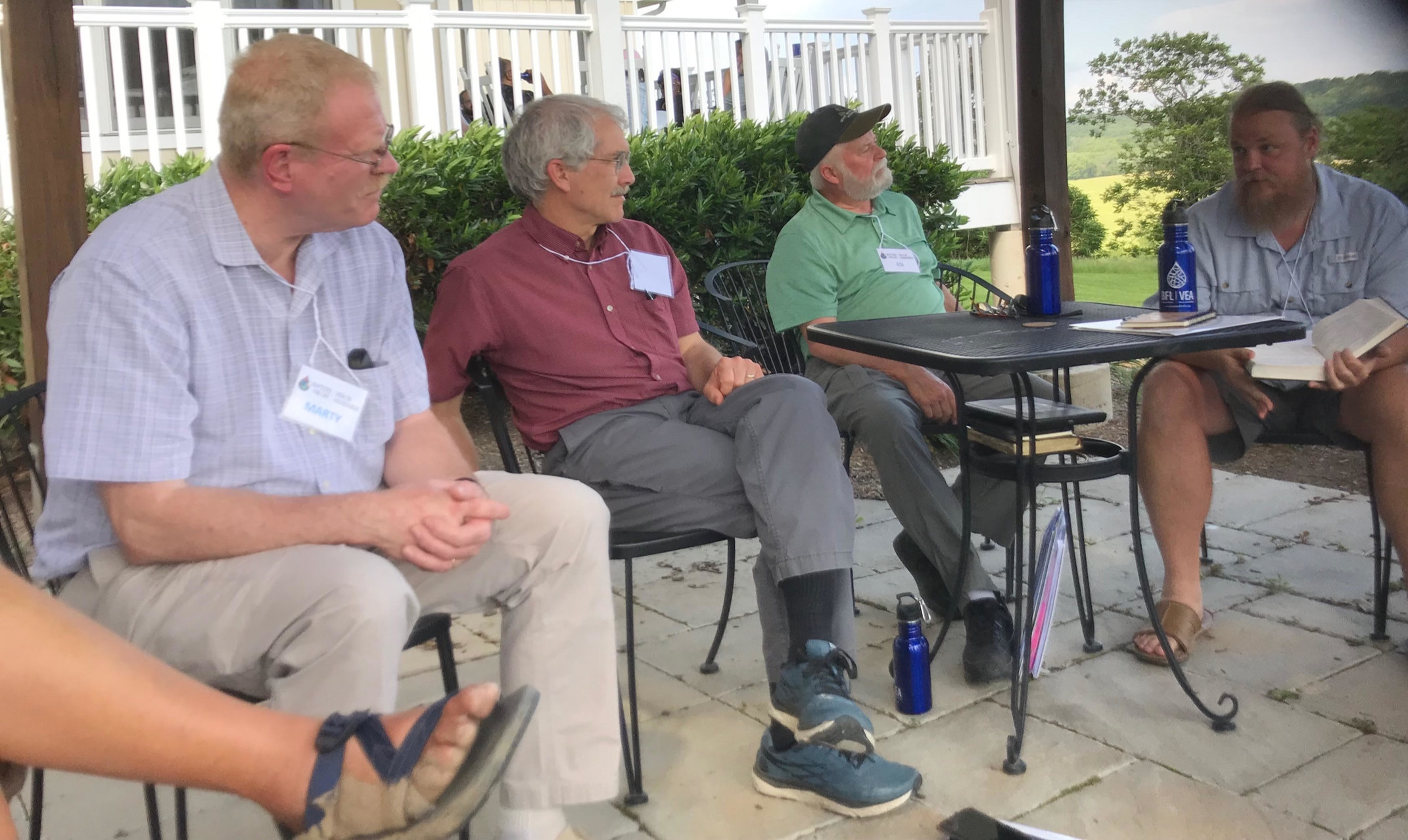 Group discussion at Claggett Retreat Center. Pictured far left is Marty Wolfe from St. Paul's in Mishawaka.