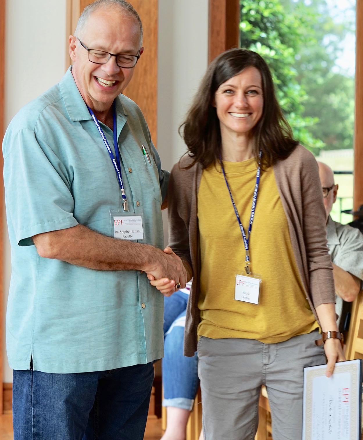 Dr. Stephen Smith (faculty) and Nicole Lambelet