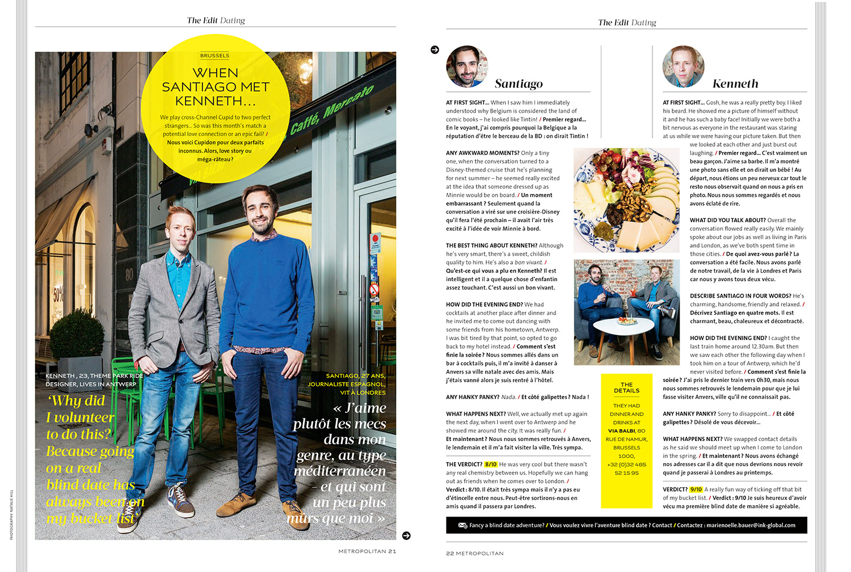 Eurostar magazine dating article