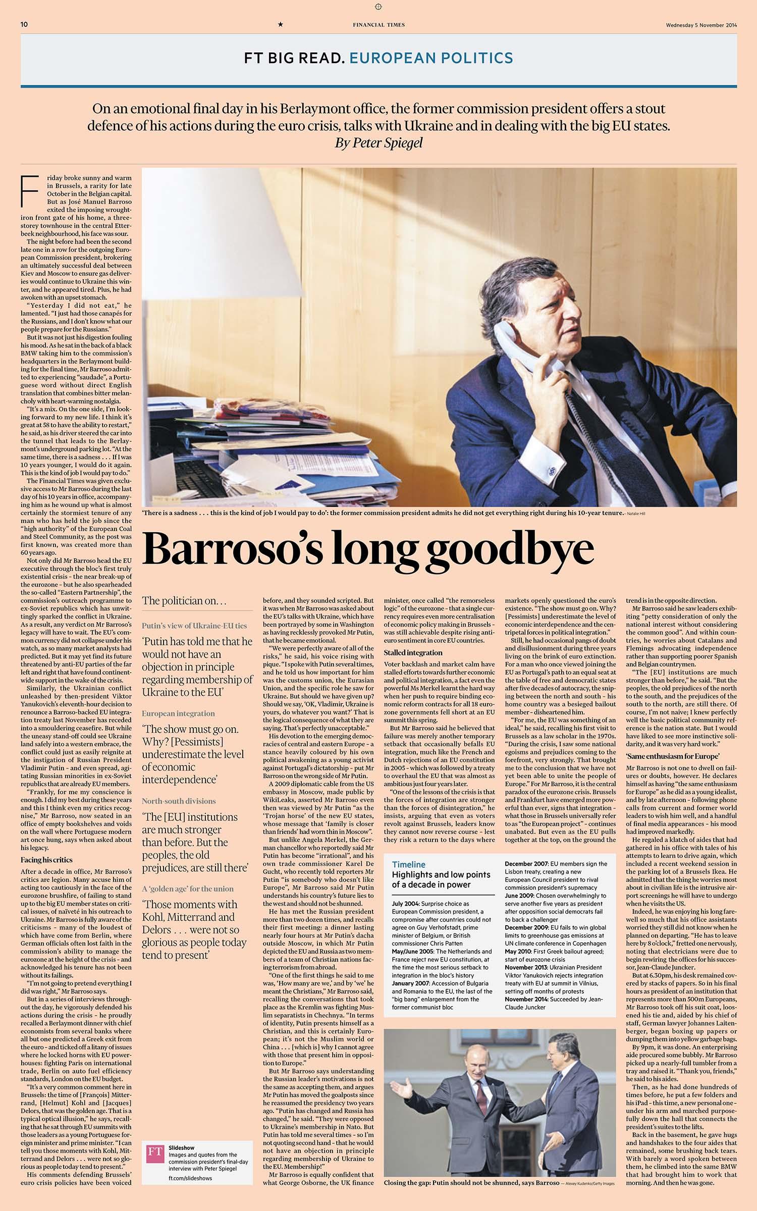 Jose Manuel Barroso Financial Times