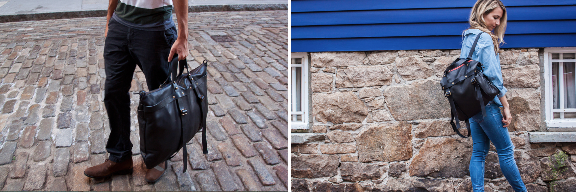 Having handsome handmade luggage on hand, like this weekender from the Brooklyn label Spencer Devine — it has adjustable straps so it can be carried as a backpack — could inspire a spontaneous ski weekend, a tropical getaway, even that two-plus-week break you've been talking about for how long now? - The New York Times     A quality carryall that you can convert into a tote, briefcase or backpack? Pure genius. That's just what Spencer Devine, a Brooklyn-based accessories brand, has hand-constructed from supple yet durable leather. - Lucky Magazine
