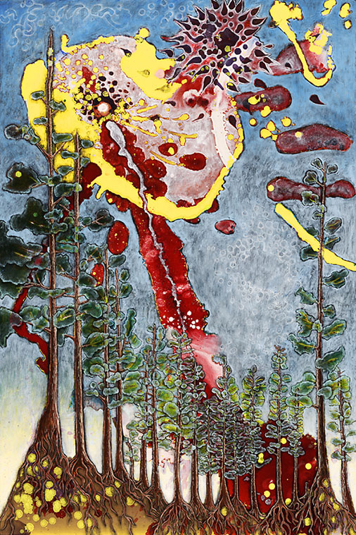 Every Forest is Enchanted, 2010, Oil on masonite