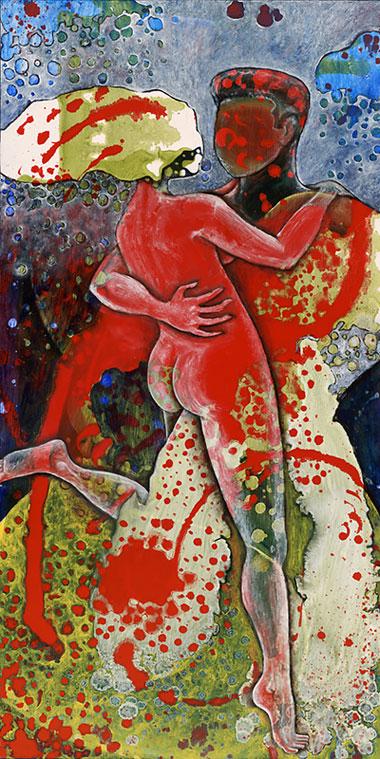 Lovers #4, 2010, Oil on masonite