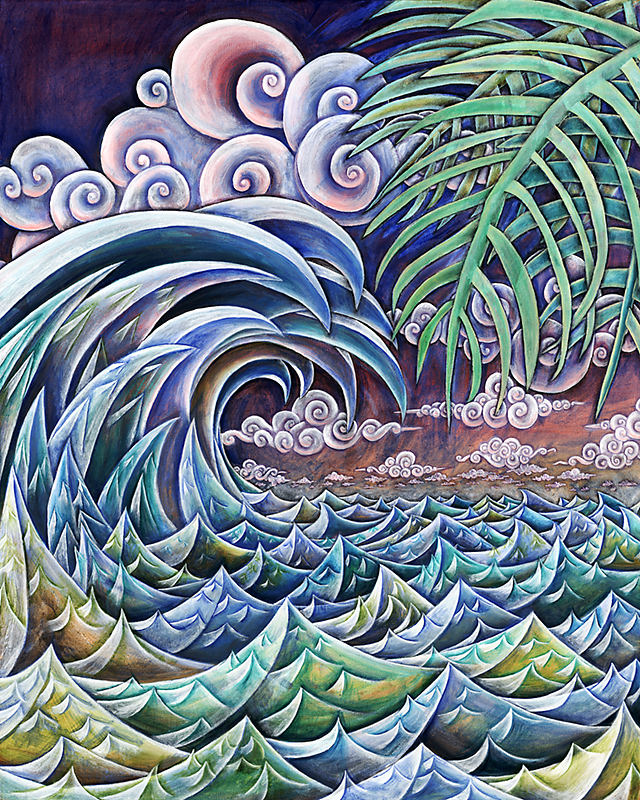 Wave #2, 2010, Oil on canvas