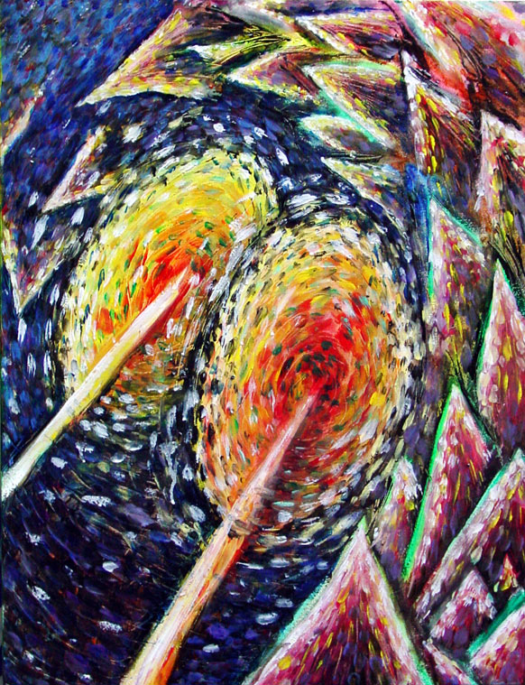 Bringing Light to the Dark Places, 2003, Oil on canvas