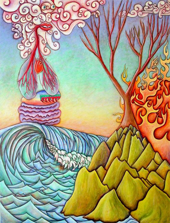 Creation #2, 2002, Oil on canvas