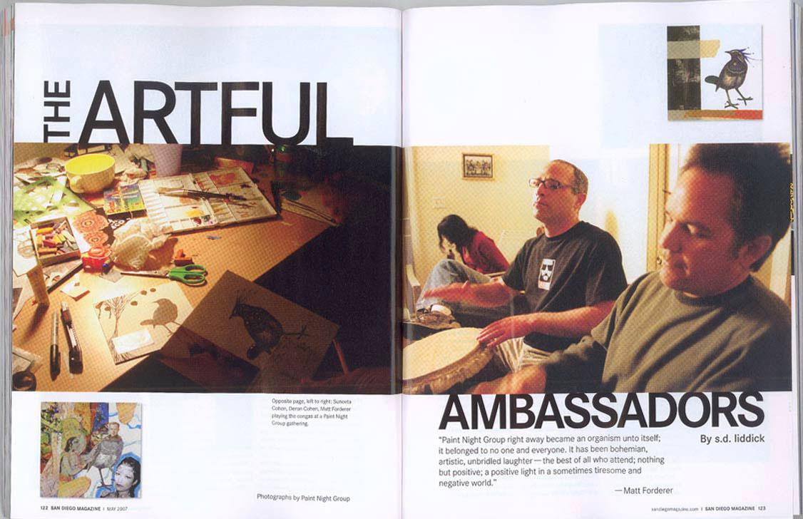 "San Diego Magazine, May 2007, ""The Artful Ambassadors"", (spread #1)"