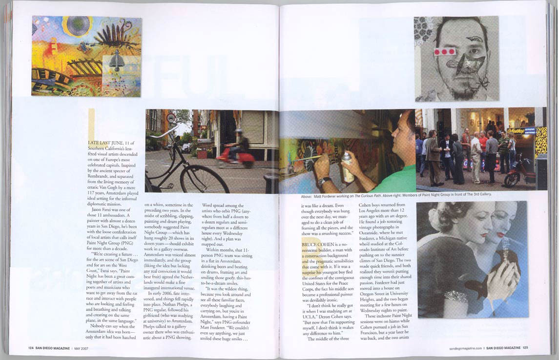 "San Diego Magazine, May 2007, ""The Artful Ambassadors"", (spread #2)"