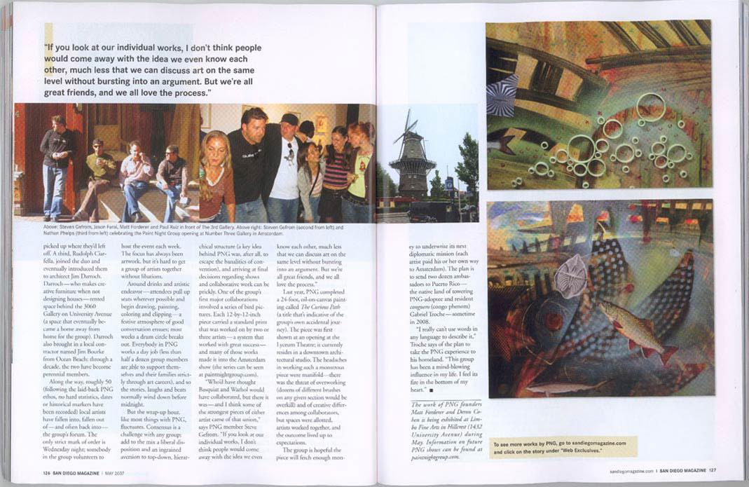 "San Diego Magazine, May 2007, ""The Artful Ambassador"" (spread #3)"