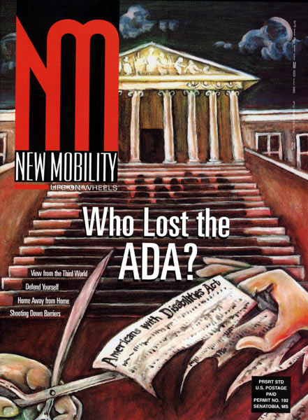 "New Mobility Magazine, September 2003, cover ""Who Lost the ADA?"""