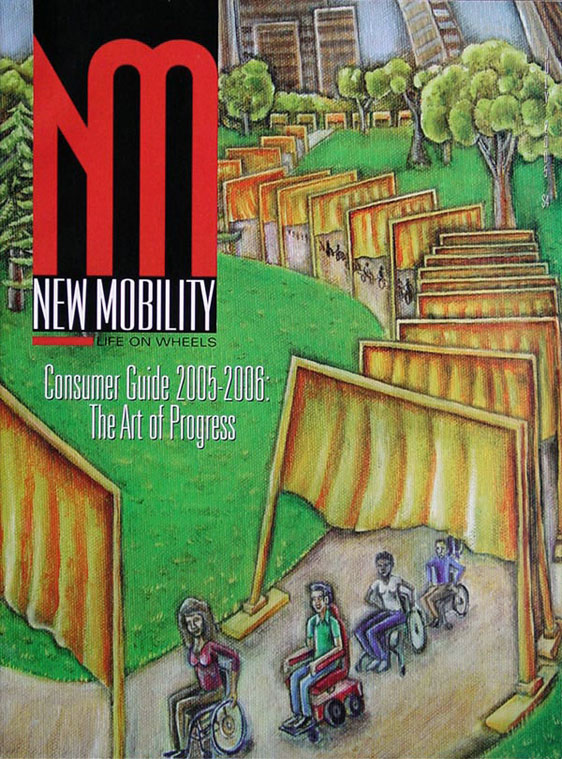 "New Mobility Magazine, Consumer Guide 2005-2006, cover ""Christo 'Gates'"""