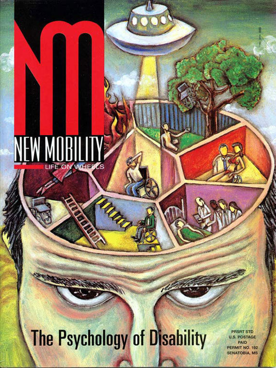 "New Mobility Magazine, May 2004, cover ""The Psychology of Disability"""