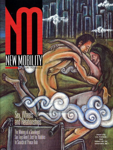 "New Mobility Magazine, 2003, cover ""Sex, Wheels and Relationships"""