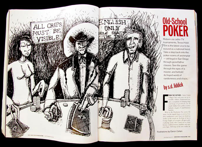 "San Diego Magazine, September 2005, ""Old-School Poker"""