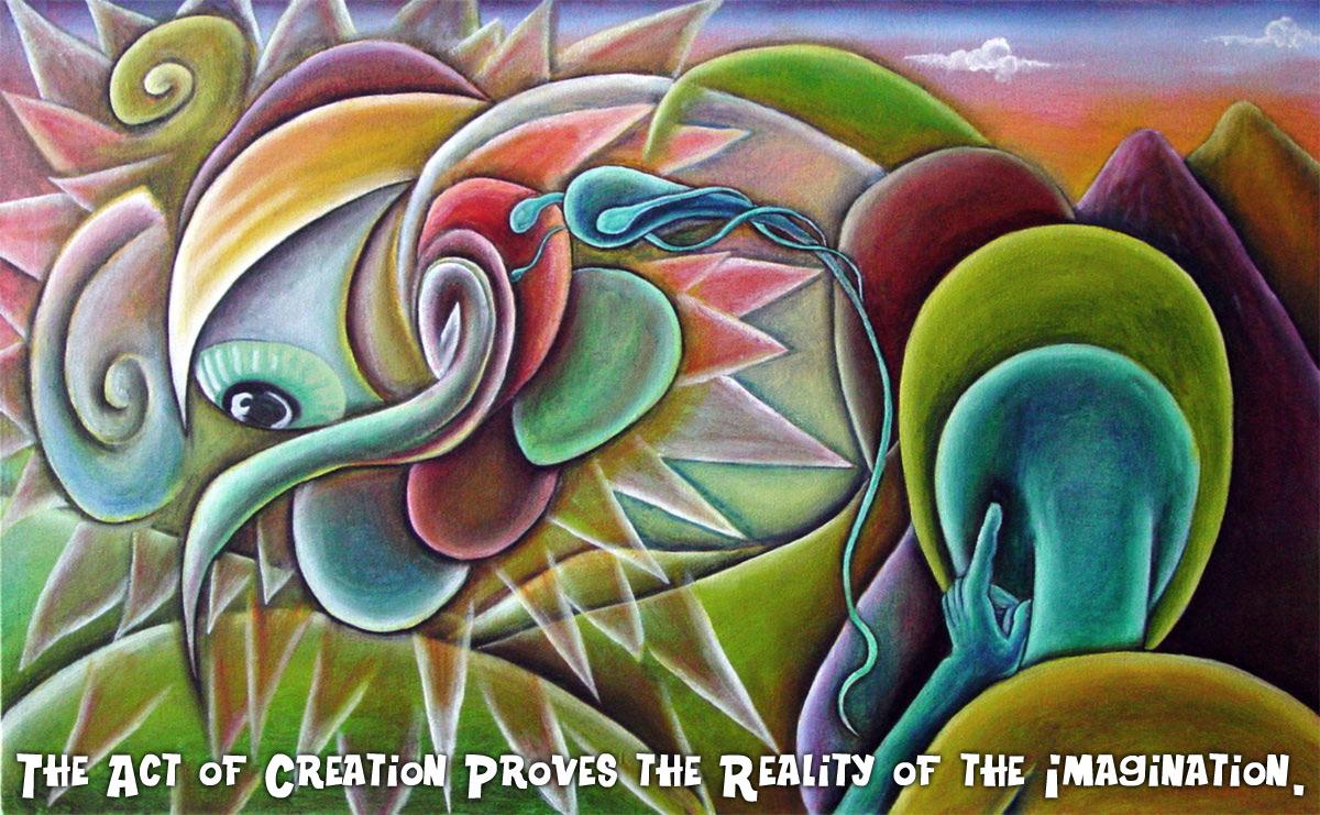 Birth of An Idea, Oil on Canvas, 2001