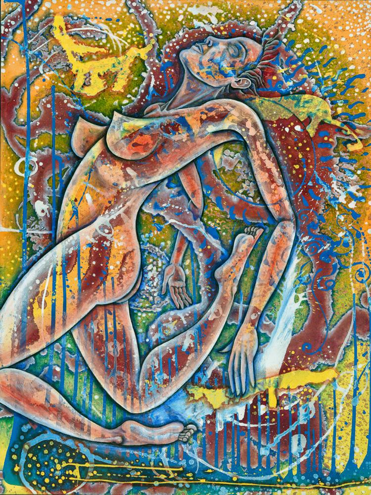 """""""Divine Woman"""", Oil on Masonite, 36"""" X 48"""", 2015"""