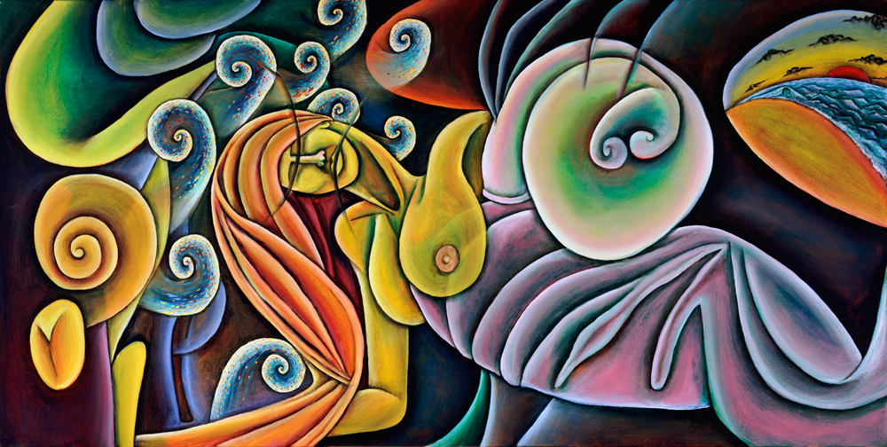 """Birth of Venus"", Oil on Canvas, 48"" X 24"", 2003"