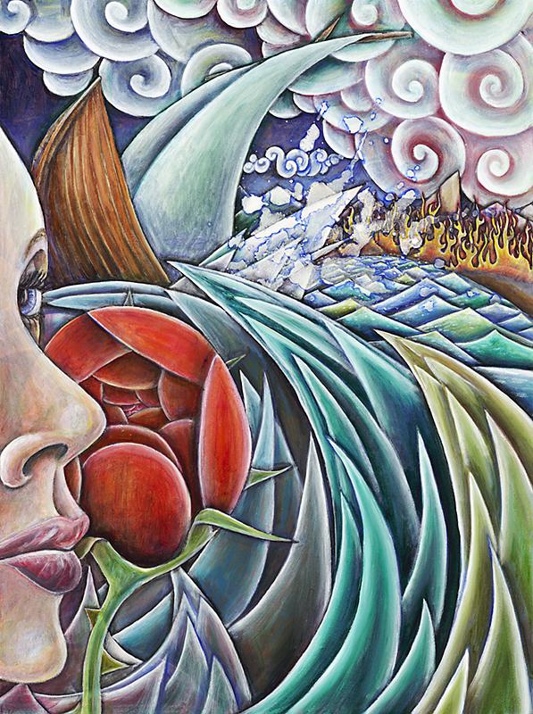 """""""Night Raiders' Return"""", Oil on canvas, 18"""" X 24"""", 2010"""