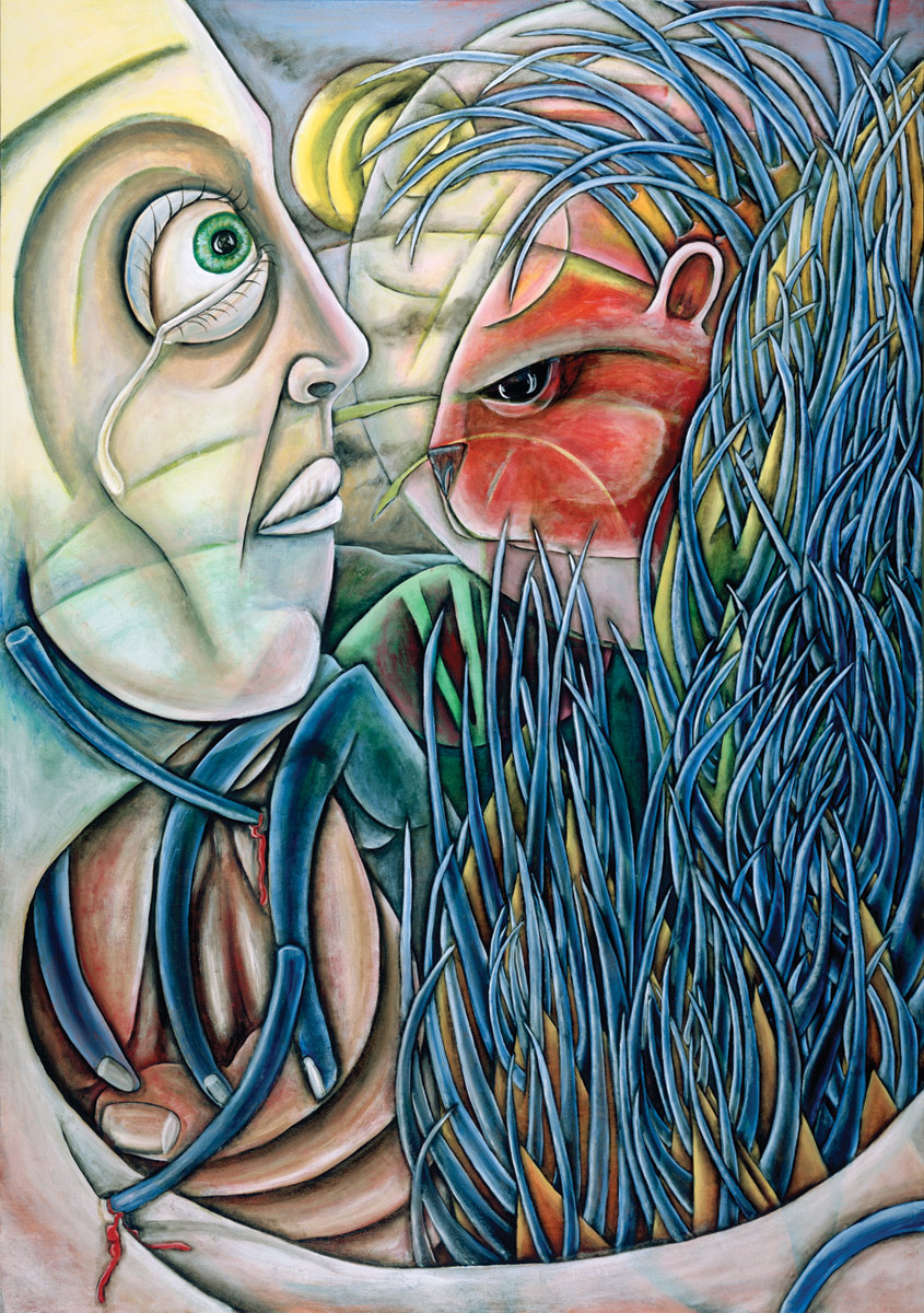 """""""The Saint and the Porcupine"""", Oil on Canvas, 48"""" X 72"""", 2004"""