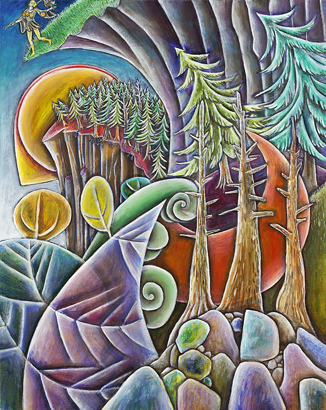"""The Fool"", Oil on Canvas, 24"" X 36"", 2004"