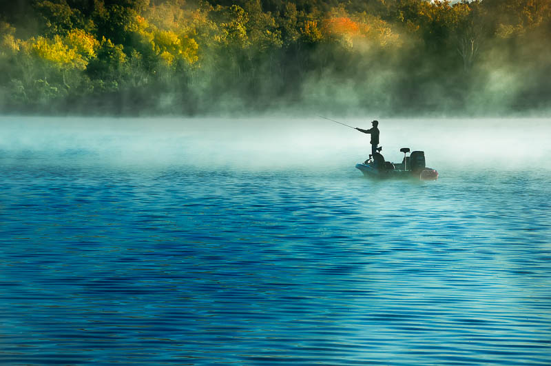 Go fishing! Bull Shoals Lake offers good fishing.