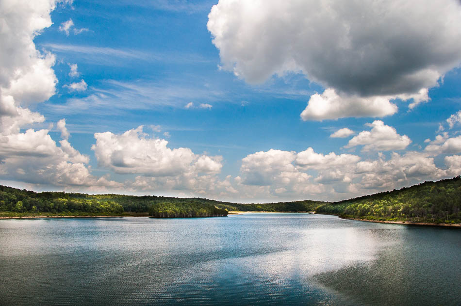 Clouds over Bull Shoals Lake