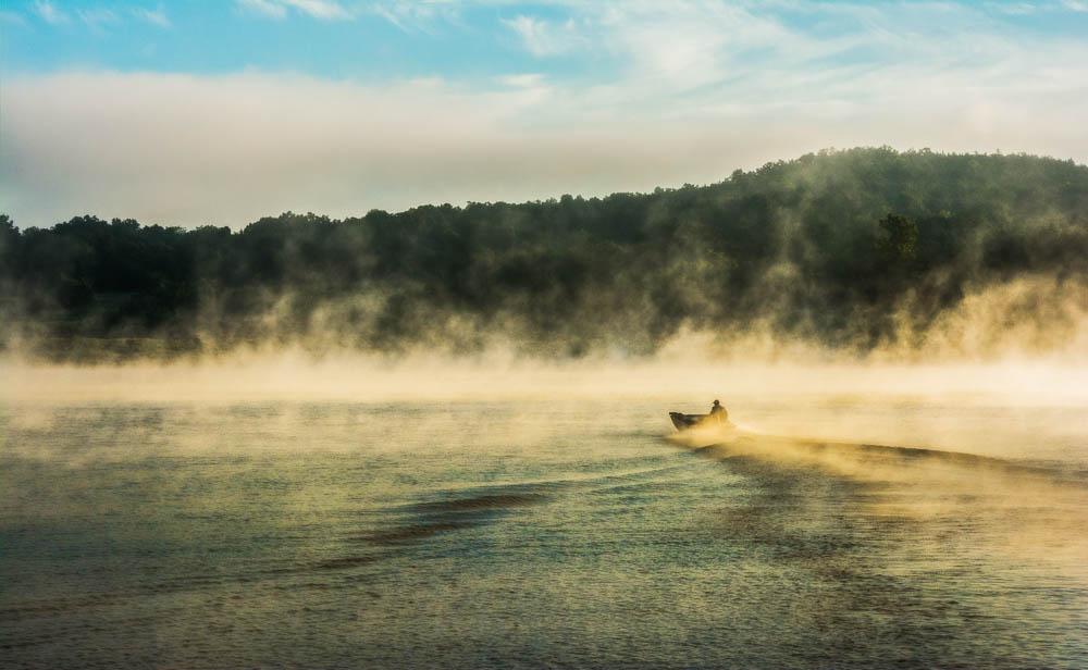 Bull Shoals Morning Fisherman