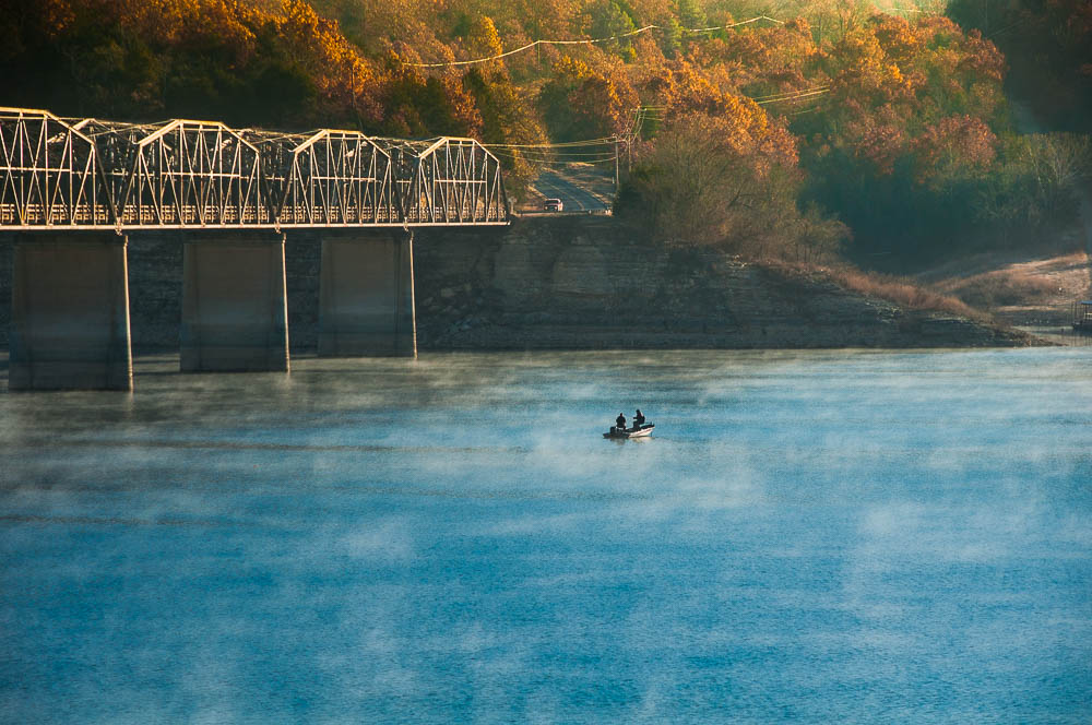 Fishing at Bull Shoals Lake, Theodosia, Missouri