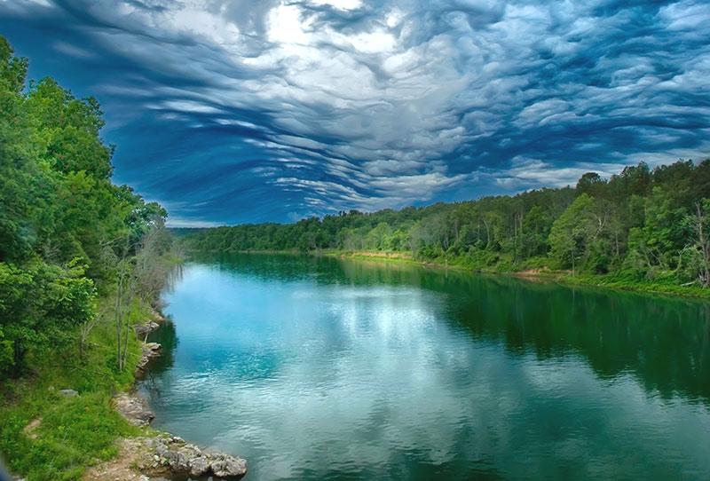 Fish Lake Norfork in Ozark County, Missouri.