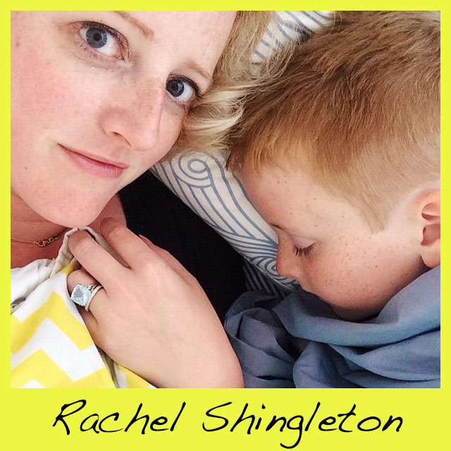 Rachel Shingleton , claims to never found a color that she doesn't love. Rachel   is a mom of two boys and the founder of  Pencil Shavings Studio  based in Oklahoma City. Where she designs stationery products and blogs about how to integrate color into everyday style and home decor.