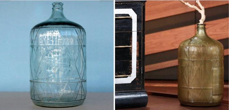 Materials: Pourable gold paint + Funnel