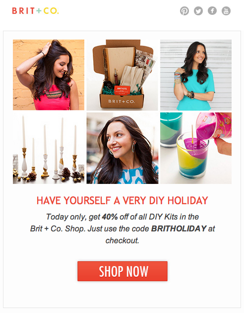 40% of ALL DIY kits! How genius is that!
