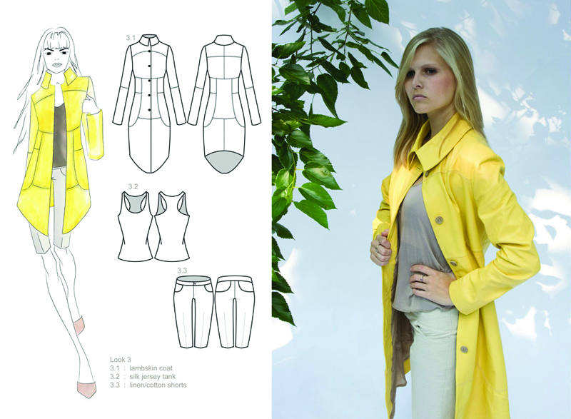 lambskin coat : silk jersey tank : linen/cotton shorts
