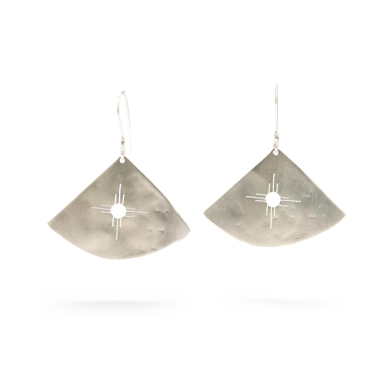 Cherokee Sun Earrings, Sterling Silver