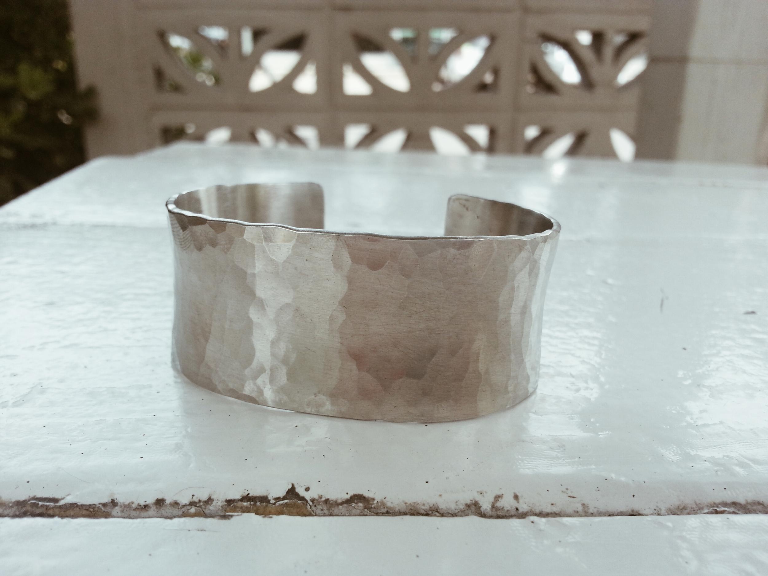 Aluminum Wedding Anniversary Cuff