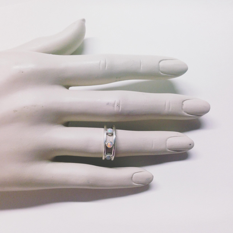 custom made silver and opal ring handmade in austin tx.JPG