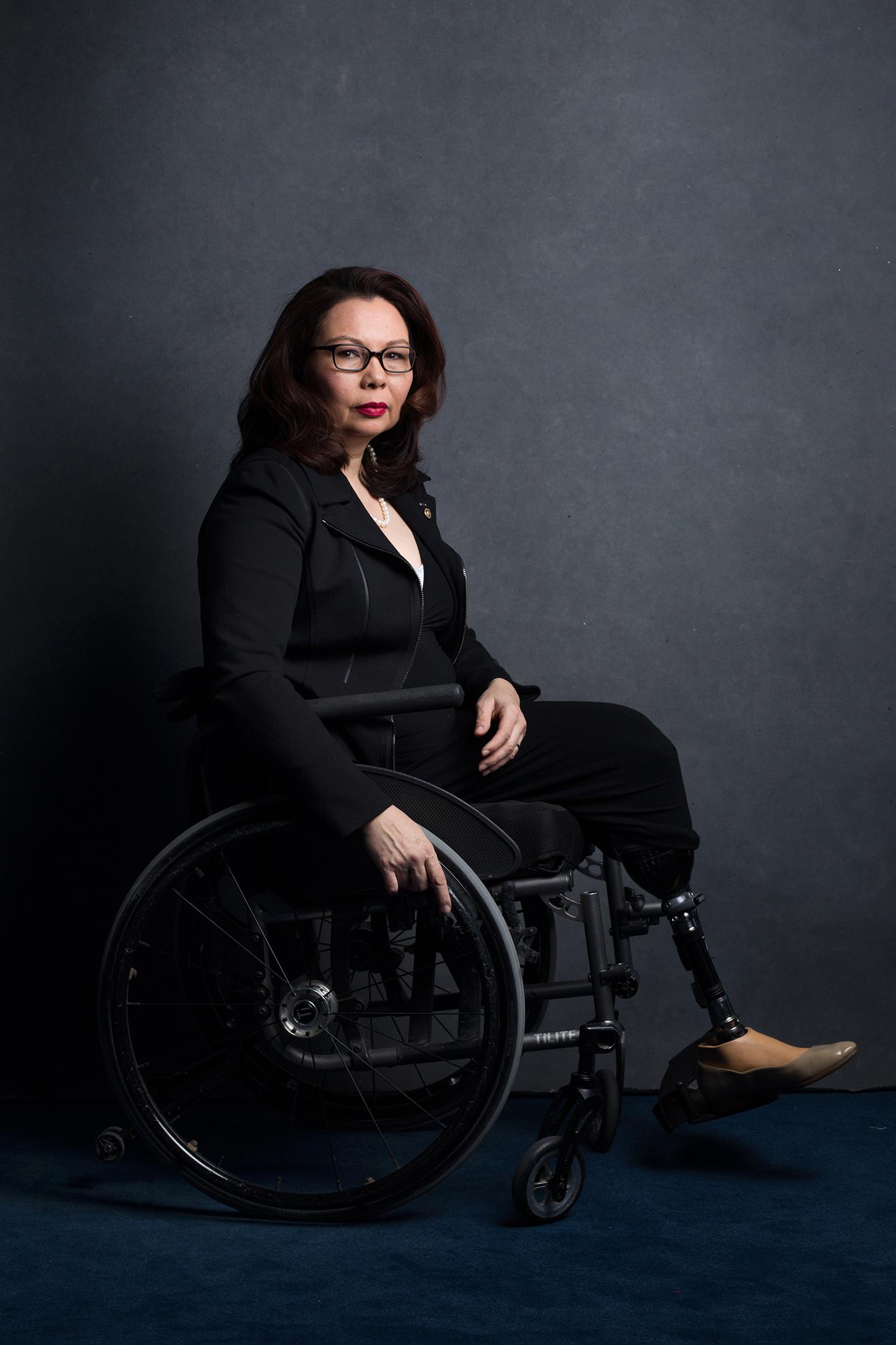 ***HOLD FOR WOMEN IN CONGRESS PROJECT, CONTACT MARISA SCHWARTZ TAYLOR*** Senator Tammy Duckworth, Democrat of IllinoisCredit: Celeste Sloman for The New York Times                              NYTCREDIT: Celeste Sloman for The New York Times