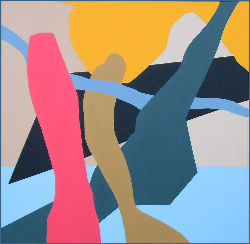 """Rick Borgia   """"Confluence""""        Acrylic on canvas   60"""" x 60"""""""
