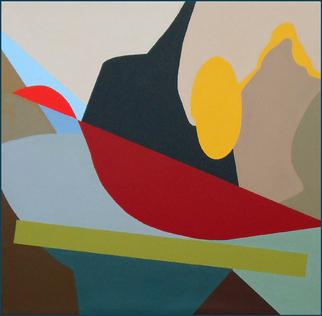 "Rick Borgia         Olentangy Birdbath     Acrylic on canvas  60"" x 60"""