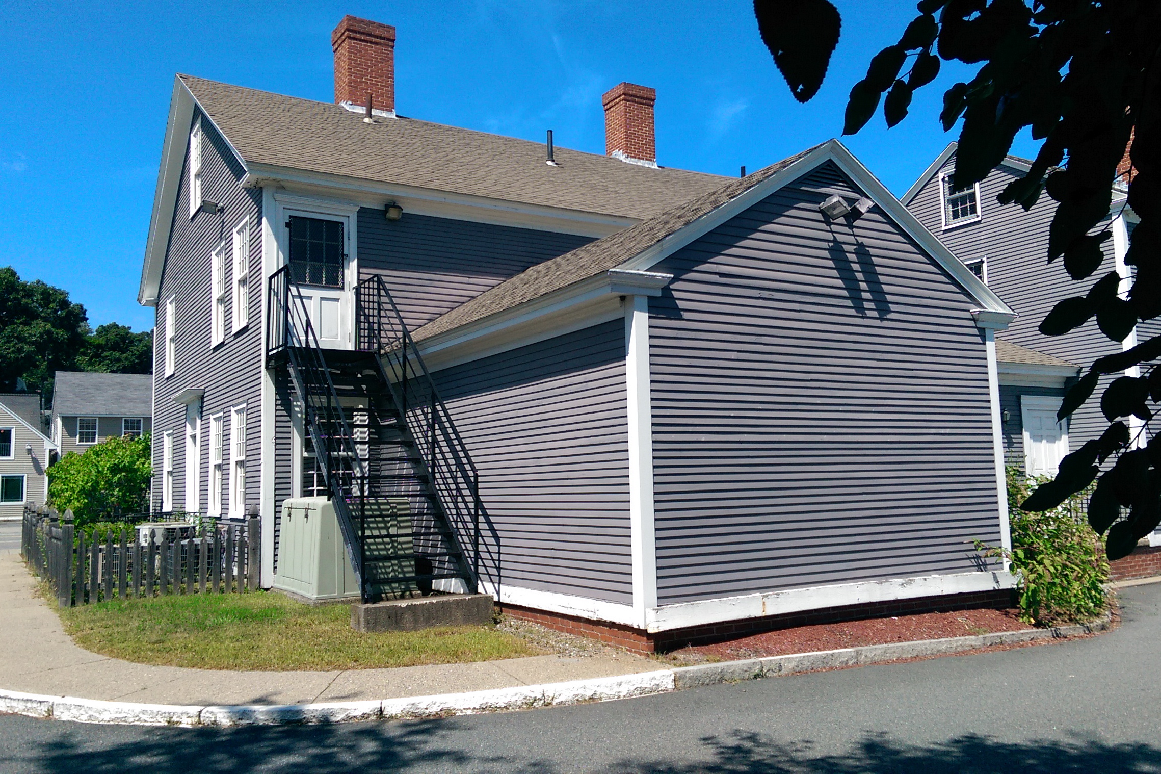 The rear of the Stearns Tavern, behind the main body of the house.