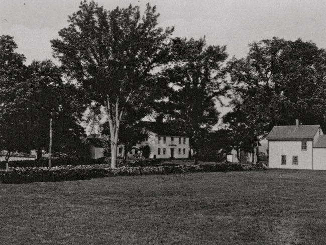 The Barnes-Hill House in the 1920s. Note the chair shop, the small building that looks like a house across the street.