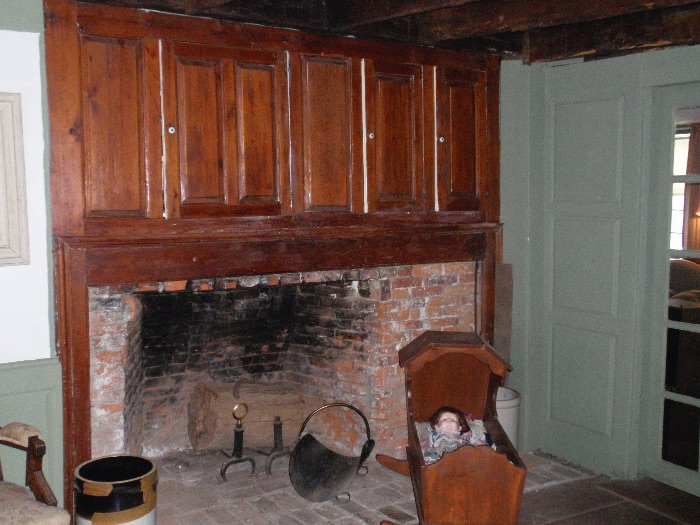The fireplace in the east parlor