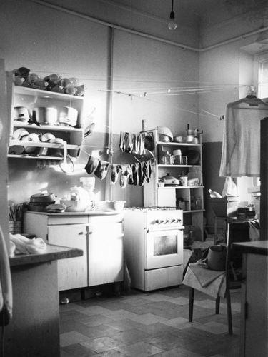 Communal kitchen in Soviet Era Russia