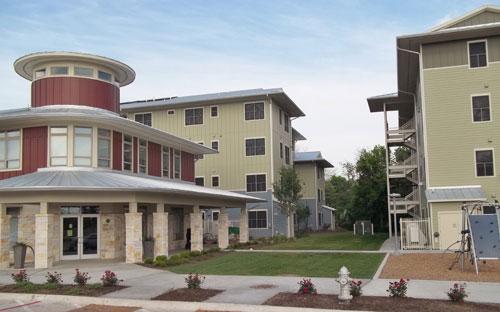 Foundation Communities' affordable housing development near the M Station light rail stop