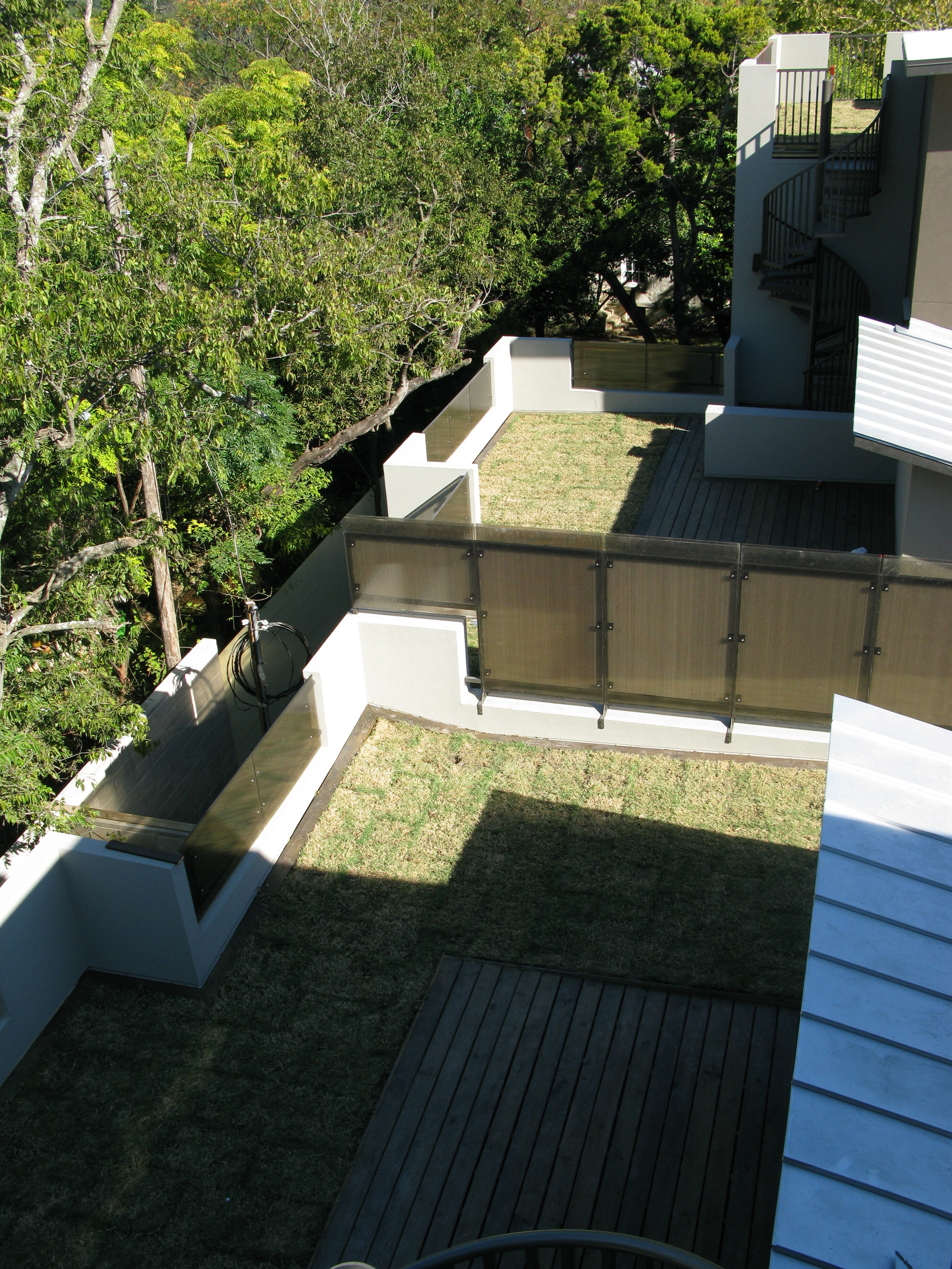 On rare occasions we put grass on our roof decks.