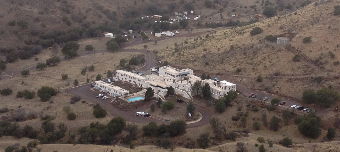 The Indian Lodge today, as seen from atop the Davis Mountains