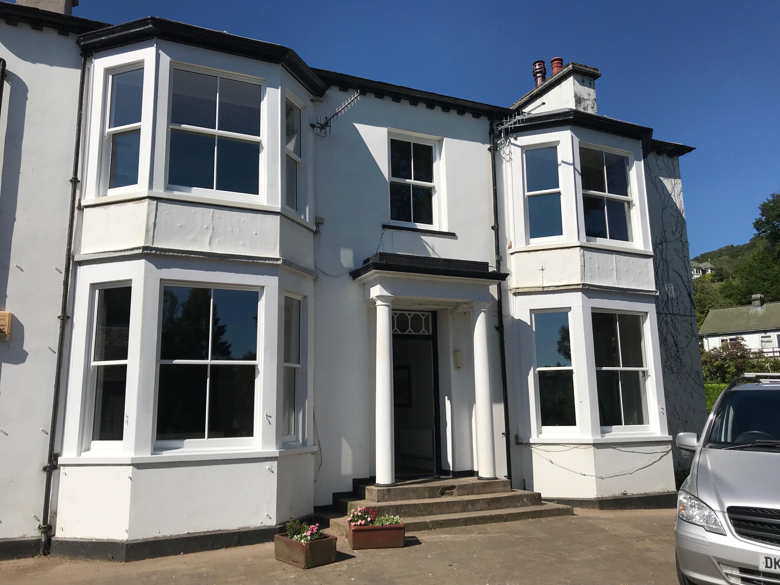 Double glazed timber sash windows, Ambleside, Cumbria