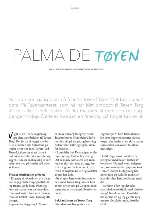Palma de Tøyen