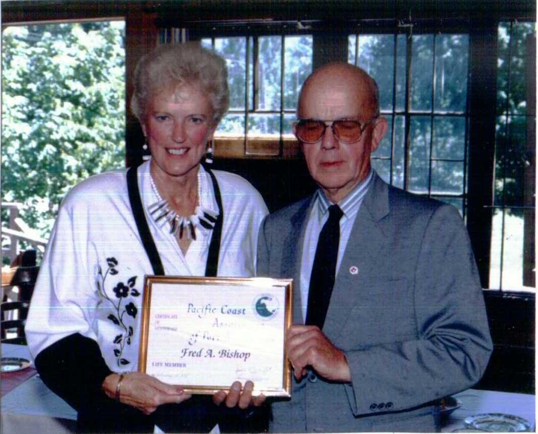 1991 Irene Frith Presents Fred Bishop Life Member.jpg