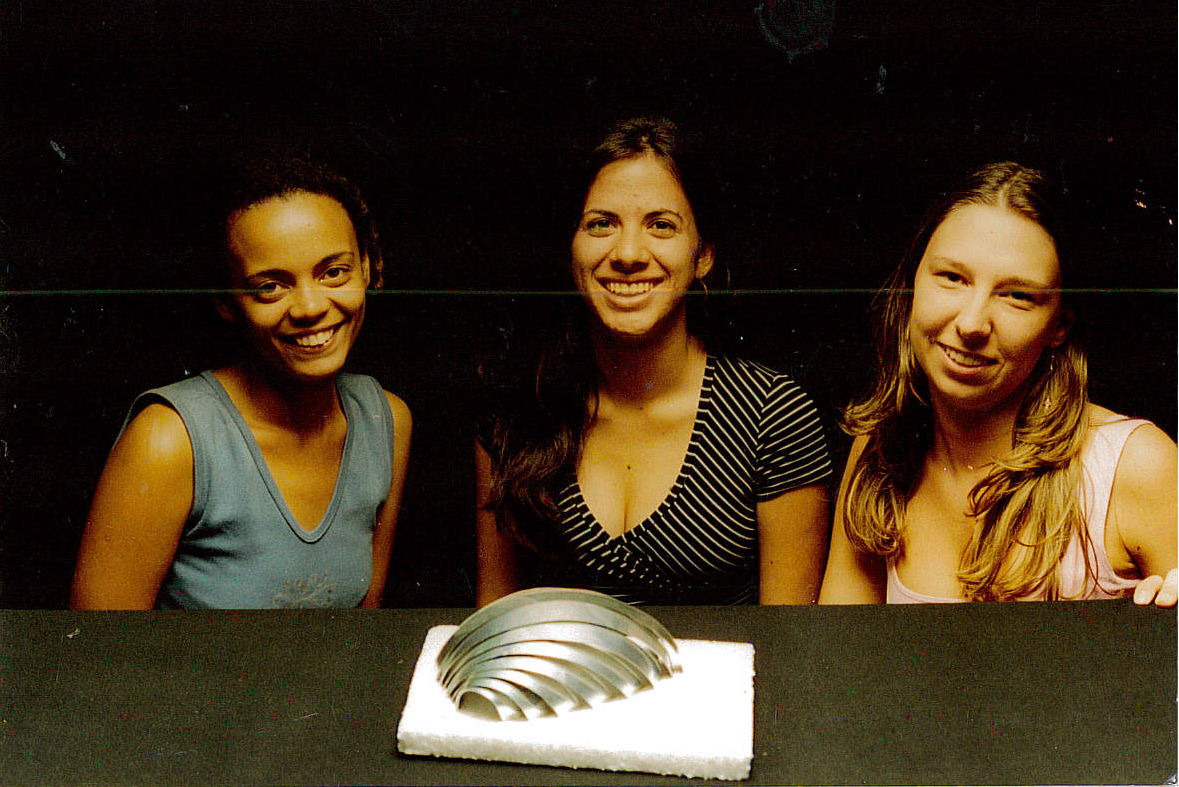 Hollingsworth (left) at the University of Sao Paulo where she studied Architecture and Urban Design.